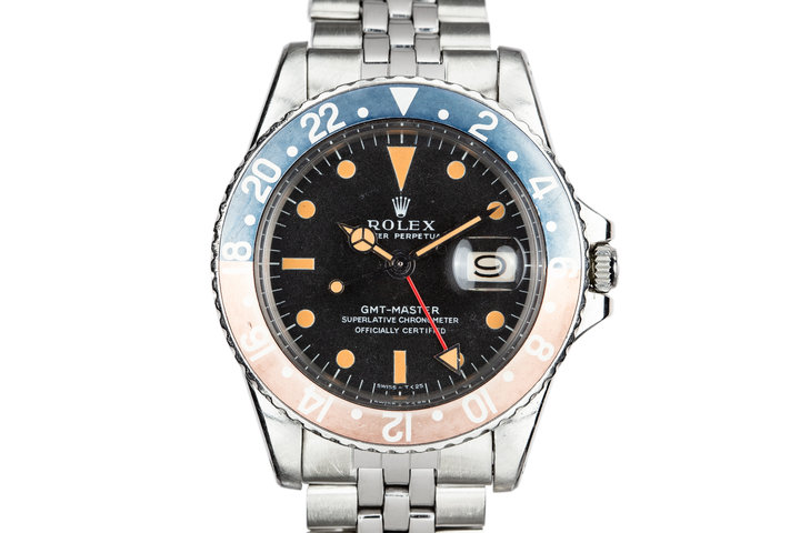 """1968 Rolex GMT-Master 1675 """"Pepsi"""" with Box and Double Punch Papers photo"""