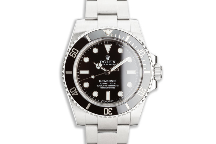 2015 Rolex Submariner No-Date 114060 with Box & Card photo