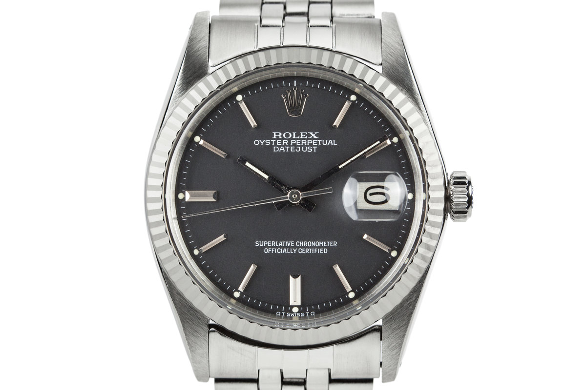 1973 Rolex DateJust 1601 with Black Sigma Dial photo, #0