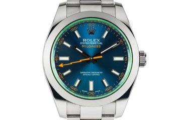 2015 Rolex Milgauss 116400GV woith Box and Papers photo