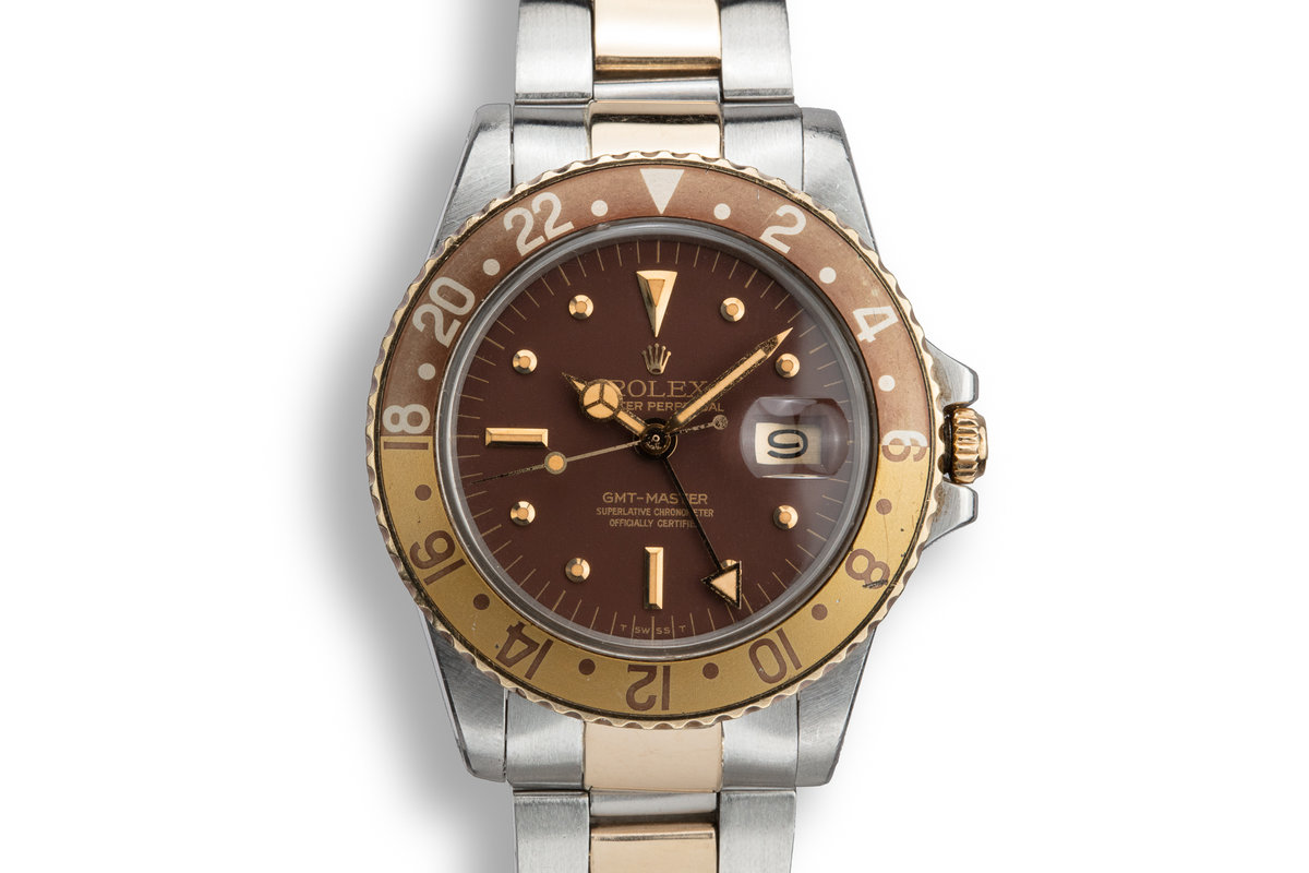 1978 Rolex Two-Tone GMT-Master 1675 with Brown Nipple Dial photo, #0