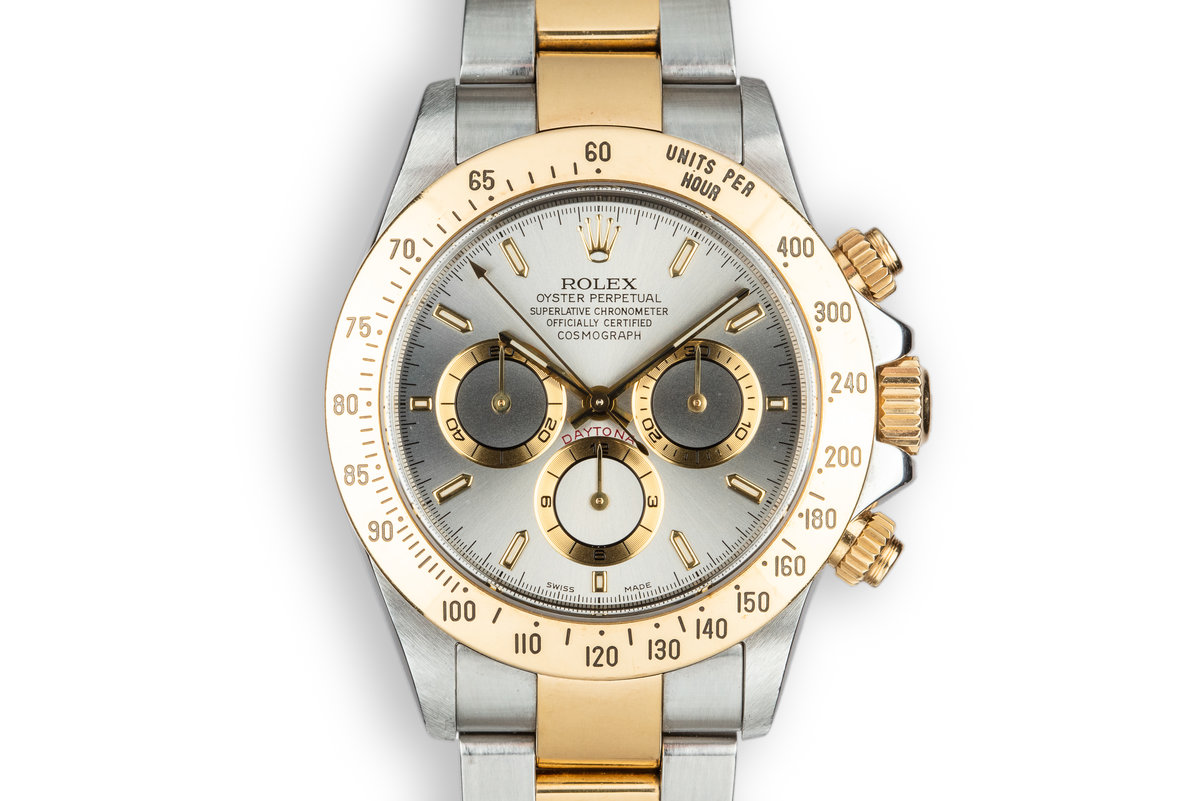 1999 Rolex Two-Tone Daytona 16523 Grey Dial with Box photo, #0