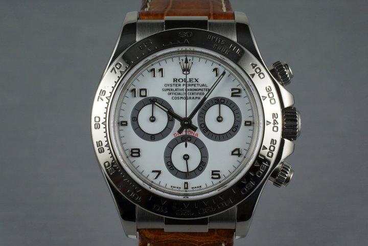 2002 Rolex 18K WG Daytona 116519 photo