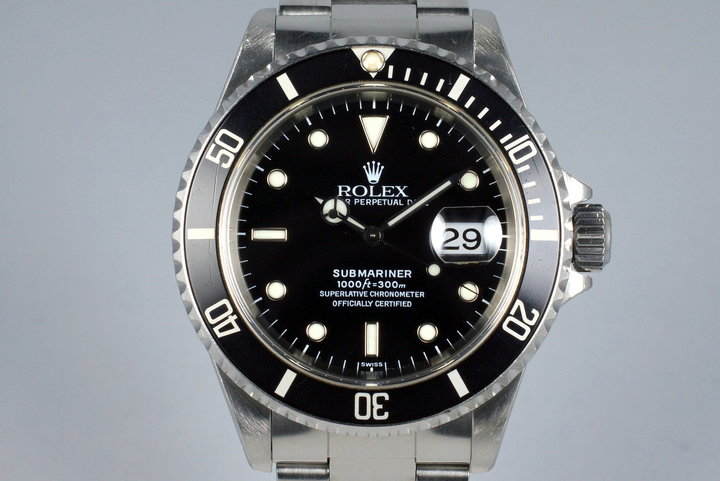 1999 Rolex Submariner 16610 with Box and Papers photo