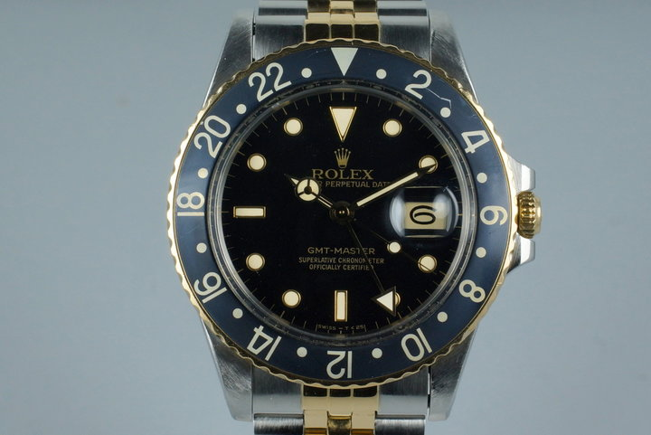 1985 Rolex Two Tone GMT 16753 with Box and Papers photo