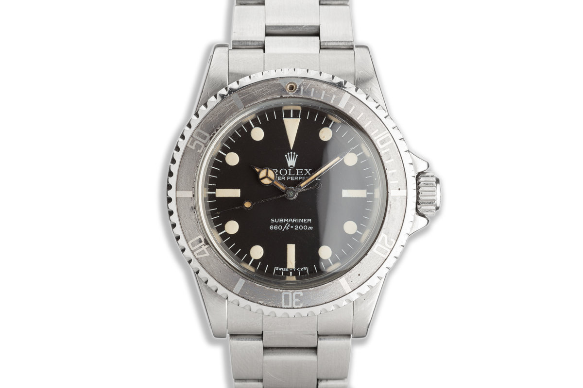 """1979 Vintage Rolex Submariner 5513 MK III Maxi """"Lollipop Dial"""" with Box & Service Papers photo, #0"""