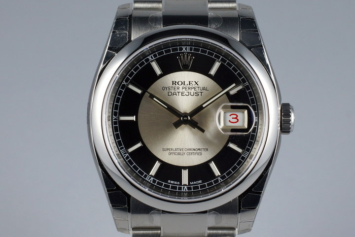 2015 Rolex Datejust 116200 Tuxedo Dial MINT photo