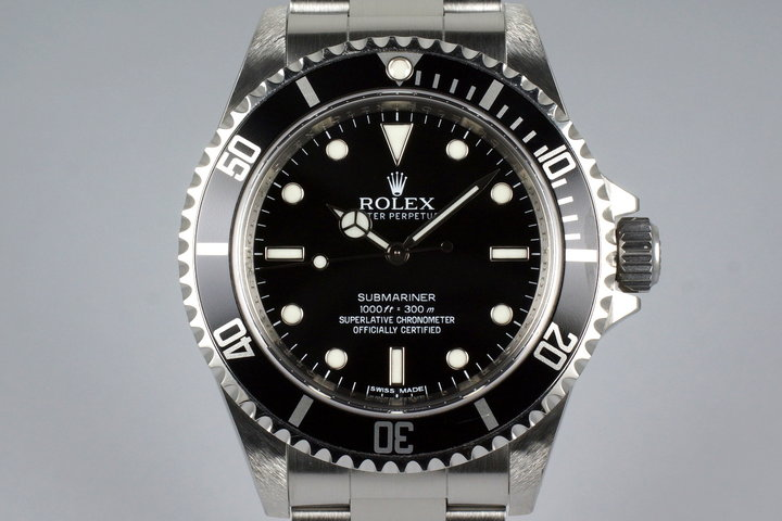 2012 Rolex Submariner 14060M 4 Line Dial with Box and Papers photo