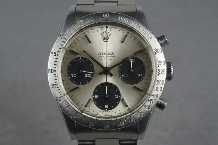 1964 Rolex Daytona Ref 6239 Silver Small Daytona Dial with Box and Papers photo