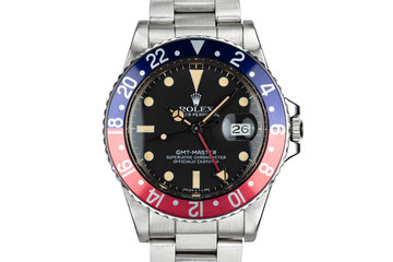 "1981 Rolex GMT-Master 16750 ""Pepsi"" with Box and Papers photo"