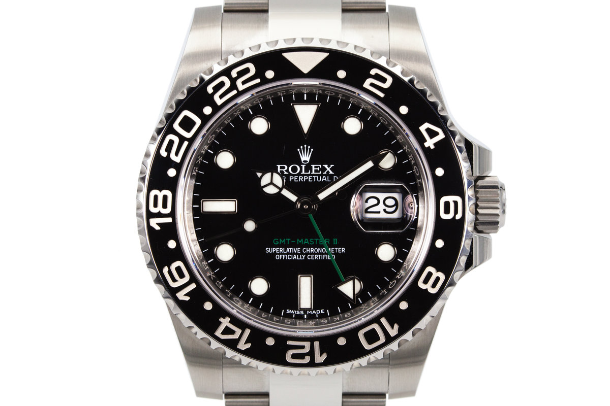 2017 Rolex GMT II 116710LN with Box and Papers photo, #0