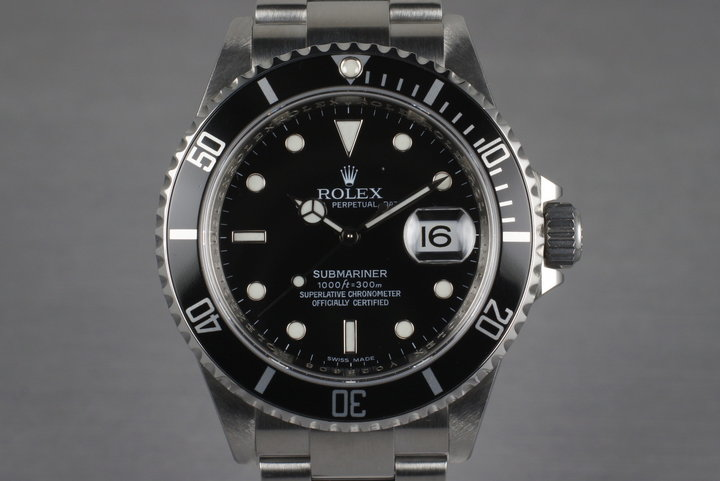 2009 Rolex Submariner 16610 with Box and Papers photo