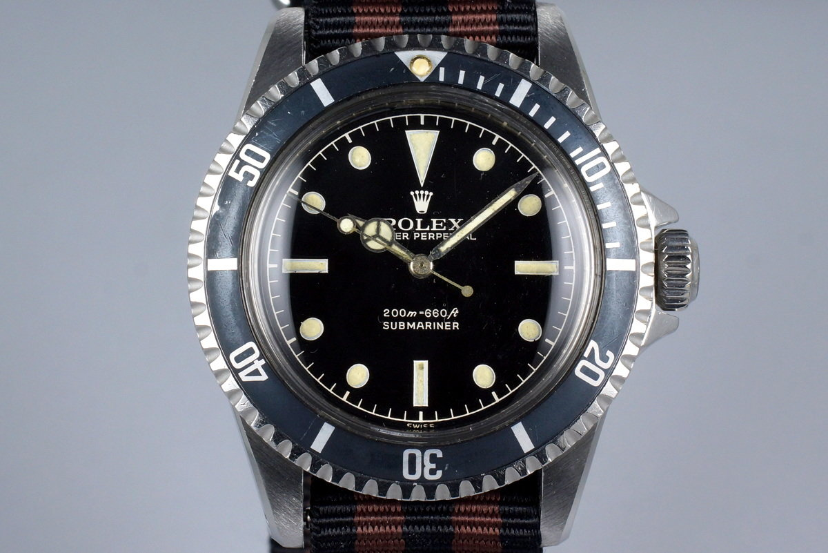 """1961 Rolex Submariner 5512 PCG 2 Line """"Tulip Crown"""" Gilt Chapter Ring Dial photo, #0"""