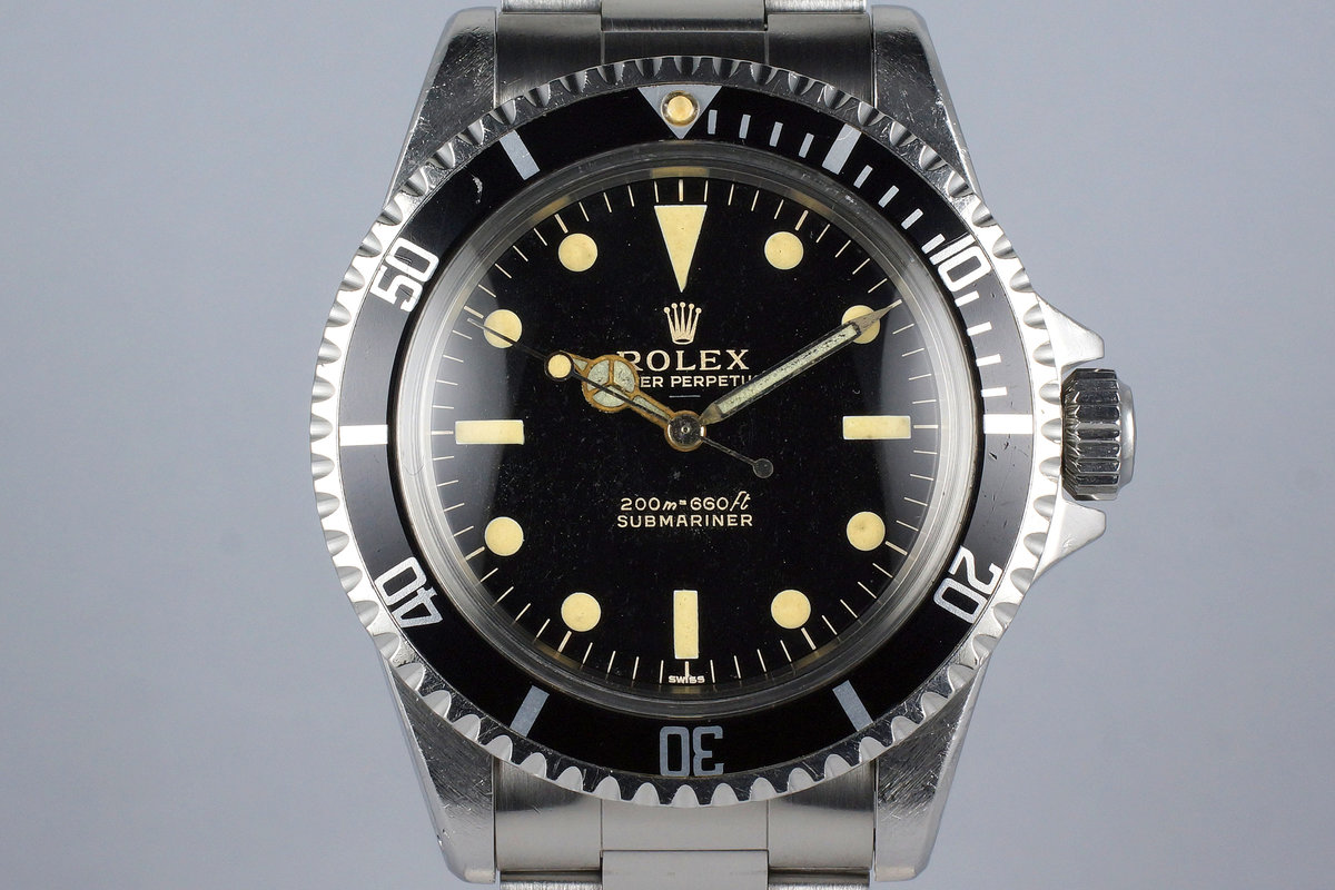 1963 Rolex Submariner 5513 Glossy Gilt UNDERLINE Dial photo, #0