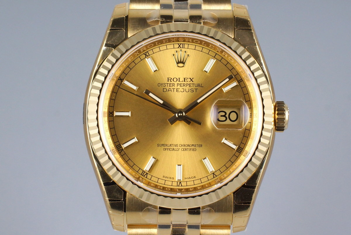 2015 Rolex YG DateJust 116238 with Box and Papers MINT photo, #0
