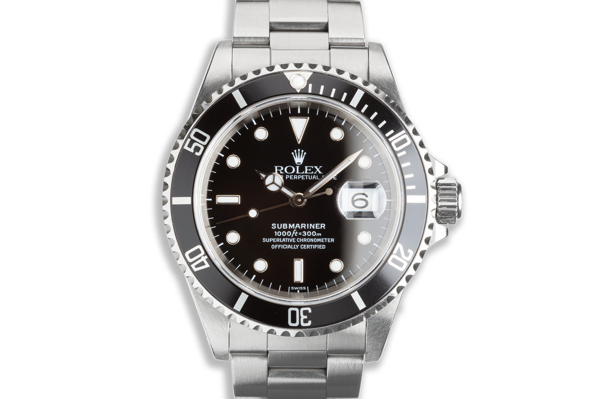 """1999 Rolex Submariner 16610 """"Swiss Only"""" Dial photo, #0"""