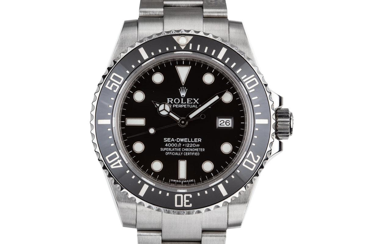2015 Rolex Ceramic Sea-Dweller 4000 Ref:116600 with Box and Papers photo, #0