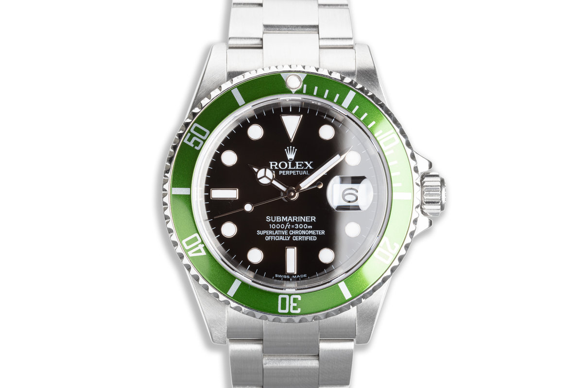 2005 Rolex Anniversary Green Submariner 16610LV photo, #0