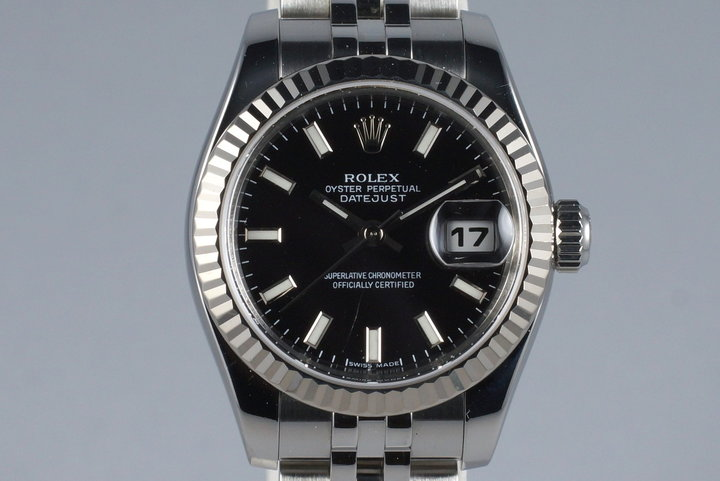 2005 Rolex Ladies Datejust 179174 Black Dial with Box and Papers photo