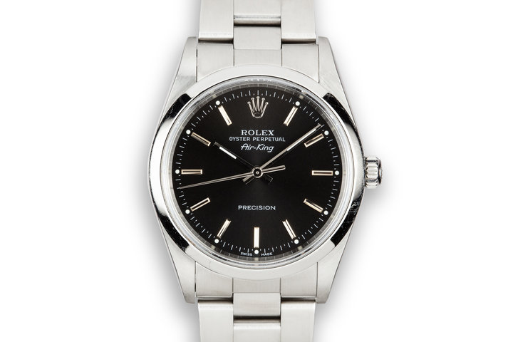 2001 Rolex Air-King 14000 Black Dial photo