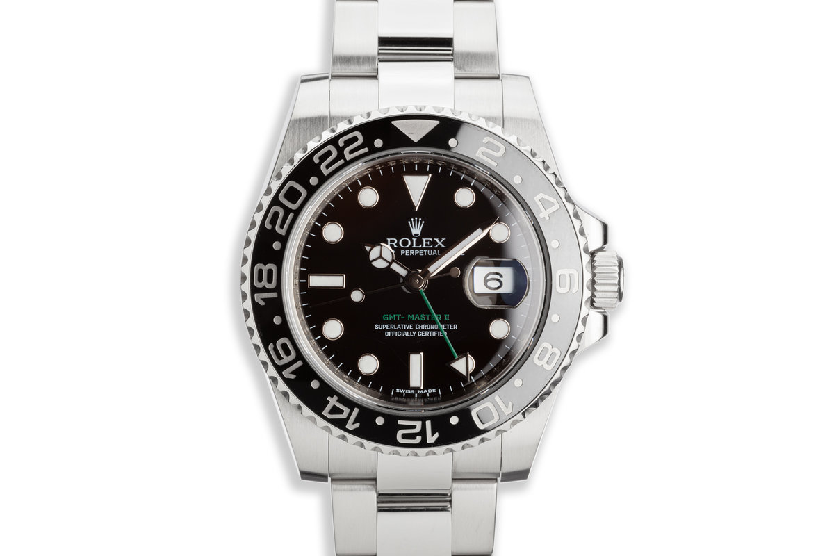 2010 Rolex GMT II 116710LN with Box and Card photo, #0
