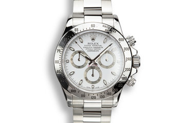 2011 Rolex Daytona 116520 White Dial with Box and Papers photo