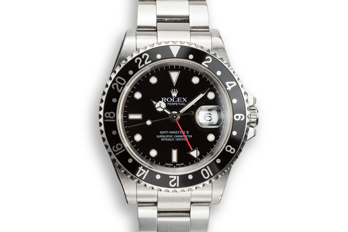 2002 Rolex GMT-Master II 16710 Black Bezel photo, #0