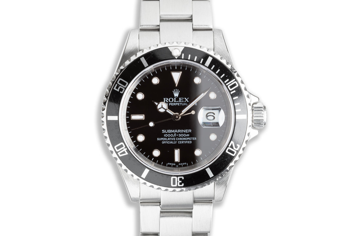2005 Rolex Submariner 16610 with Box & Card photo, #0