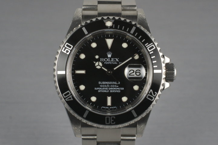 2006 Rolex Submariner 16610 with Box and Papers photo
