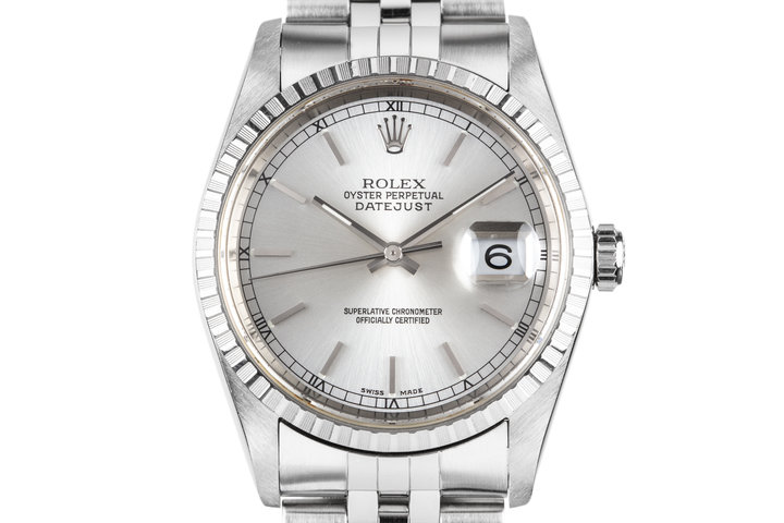 2005 Rolex DateJust 16220 Silver Dial with Box photo