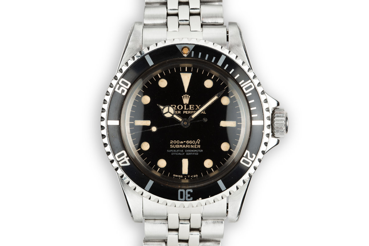 1966 Rolex Submariner 5512 4 Line Gilt Dial photo, #0