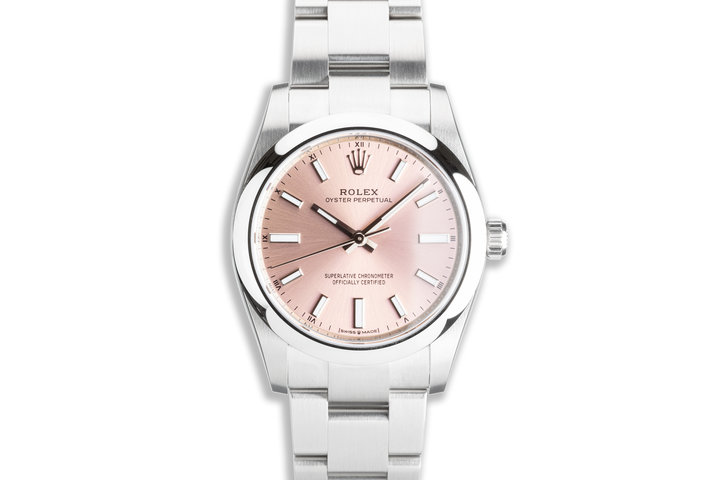 """2021 Oyster Perpetual 124200 """"Pink"""" Dial with Box & Card photo"""