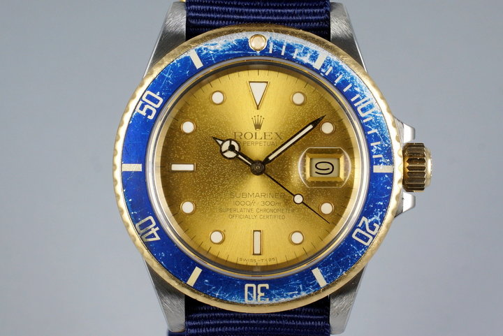 1987 Rolex Two Tone Submariner 16803 with Tropical Dial photo