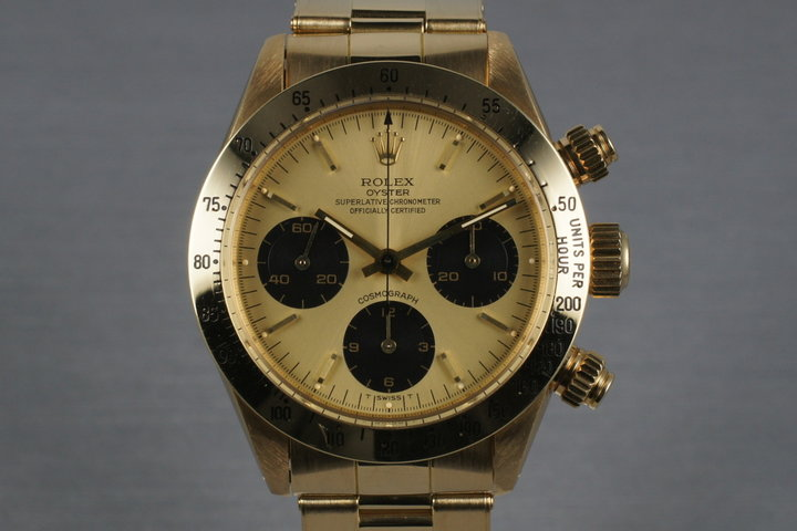 1987 Rolex Daytona 18K 6265 with Gold Dial and Box and Papers photo