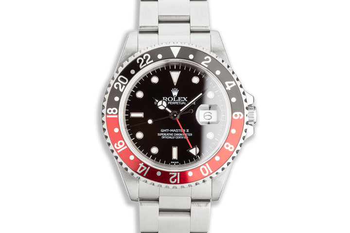 "1999 Rolex GMT-Master II 16710 ""Coke"" Bezel ""Swiss Only"" Dial photo"