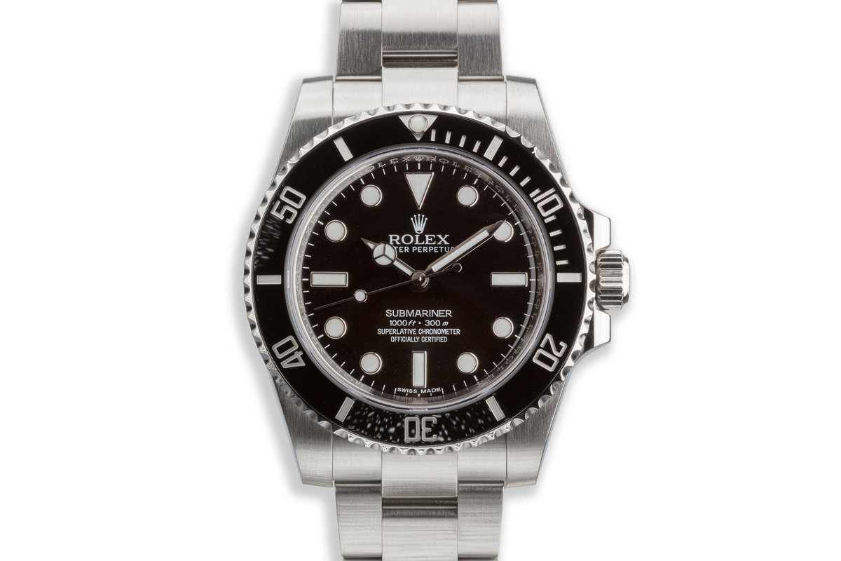 2017 Rolex Submariner 114060 with Box and Card photo, #0
