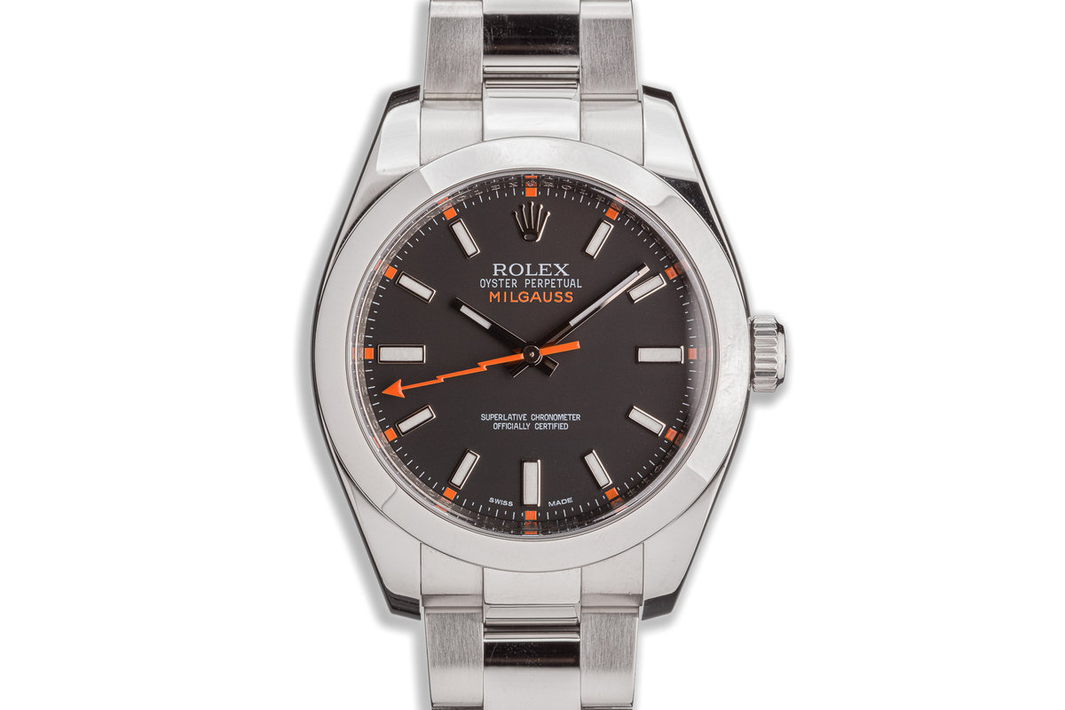2012 Rolex Milgauss 116400 Black Dial with Box and Papers photo, #0
