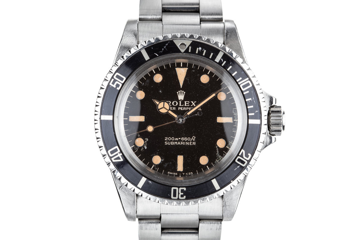 1966 Rolex Submariner 5513 Gilt Dial with Service Papers photo, #0