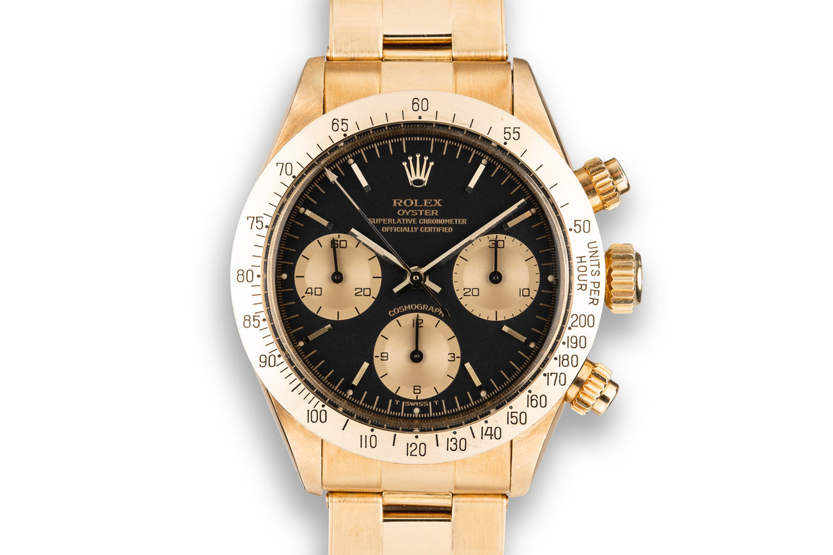 1983 Rolex 18K YG Daytona 6265 with Black Dial photo, #0