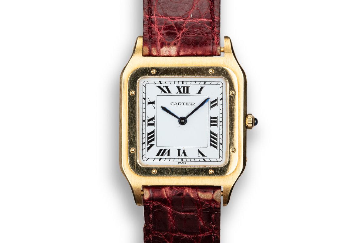 Cartier 18K YG Santos Dumont Paris Mecanique 15751 photo, #0