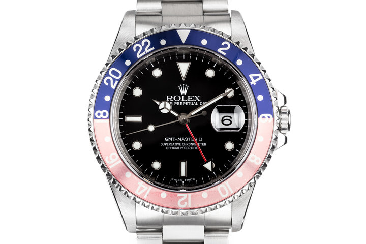 """1999 Rolex GMT-Master II 16710 with Faded """"Pepsi"""" Insert and Box and Papers photo"""