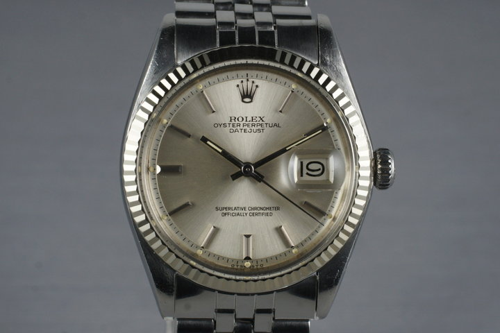 1972 Rolex DateJust 1601 Silver Sigma Dial with Box and Papers photo