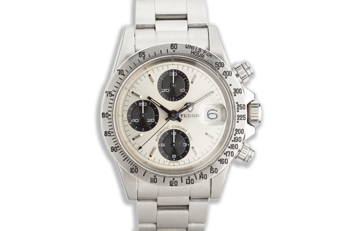 "1978 Tudor Chronograph Big Block 9430/0 ""Solo Dial"" Silver & Black photo, #0"