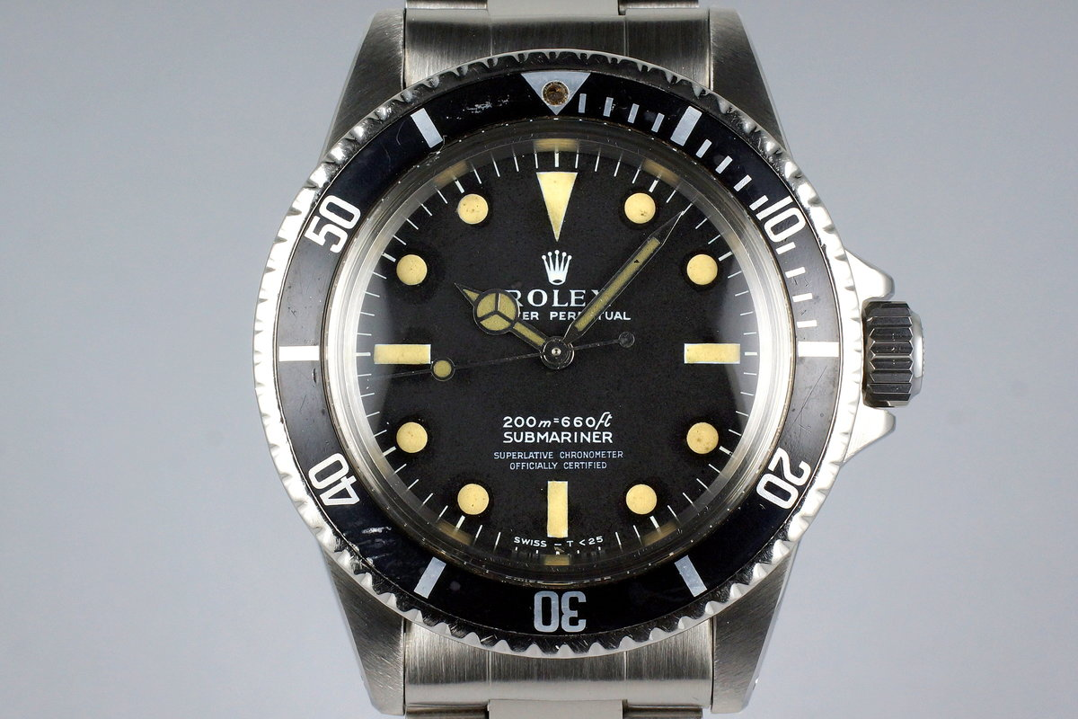 1967 Rolex Submariner 5512 4 Line Meters First Dial photo, #0