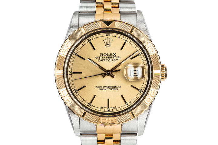 "2001 Rolex Two-Tone DateJust ""Thunderbird"" 16263 photo"