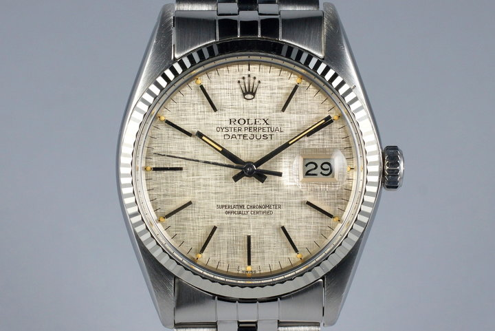 1978 Rolex DateJust 16014 Silver Linen Dial photo