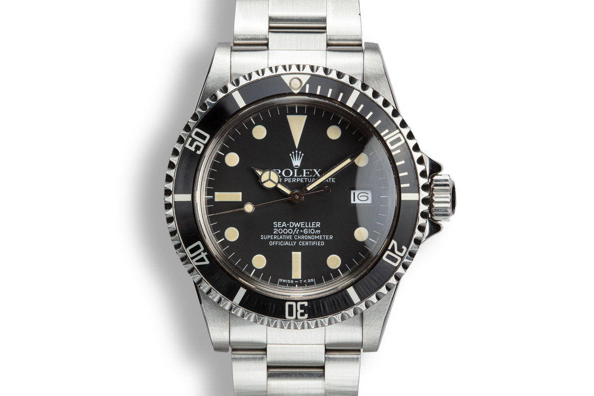 1981 Rolex Sea-Dweller 1665 Matte Dial with Box and Service Records photo, #0