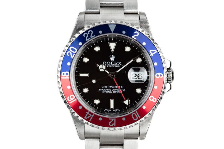 """2002 Rolex GMT-Master 16710 """"Pepsi"""" photo"""