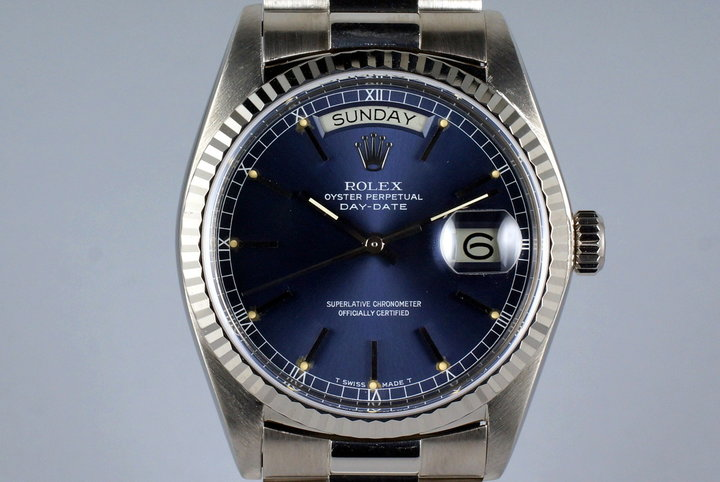 1978 WG Rolex Day-Date 18039 Blue Dial photo