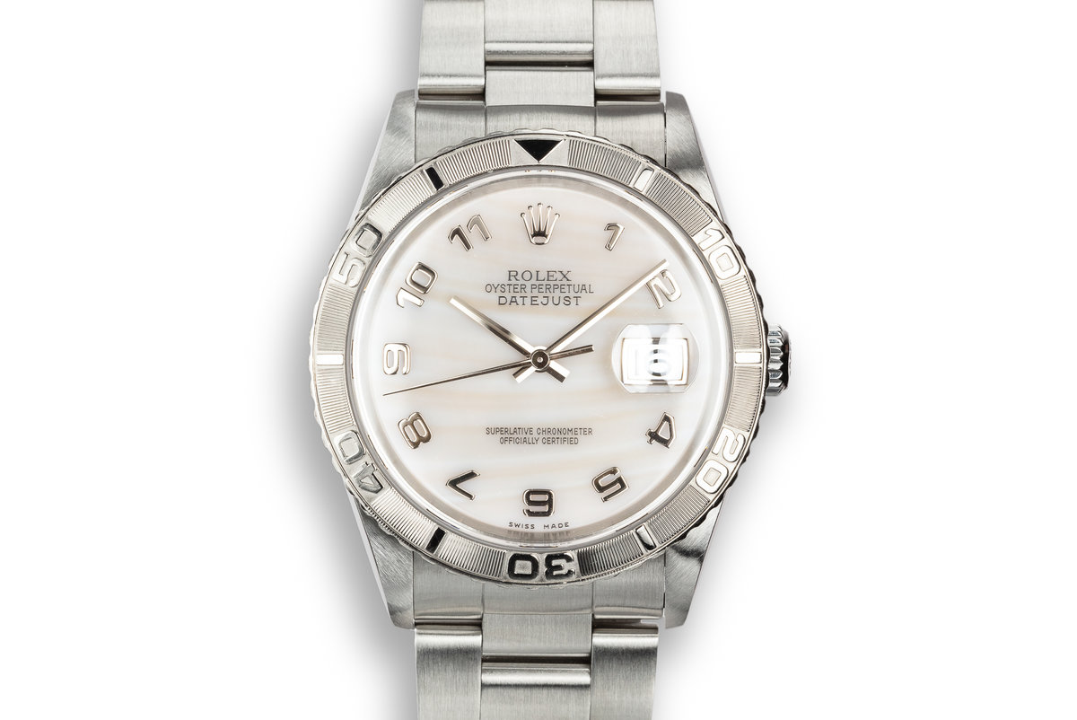 "2002 Rolex DateJust Turn-O-Graph ""Thunderbird"" with Mother of Pearl Arabic Dial photo, #0"